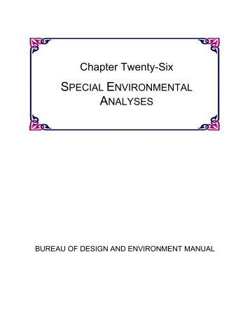 chapter twenty-six special environmental analyses - Illinois ...