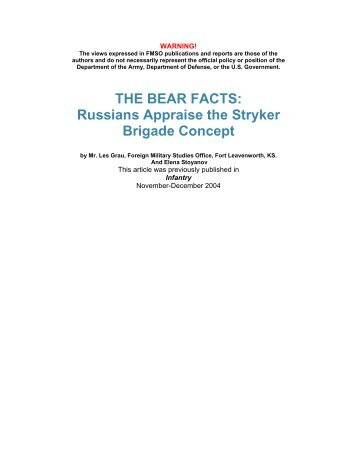 THE BEAR FACTS: Russians Appraise the Stryker Brigade Concept
