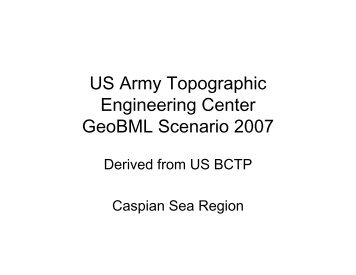 US Army Topographic Engineering Center GeoBML ... - NetLab Home