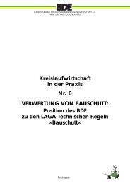 Kreislaufwirtschaft in der Praxis Nr. 6 VERWERTUNG VON ... - BDE