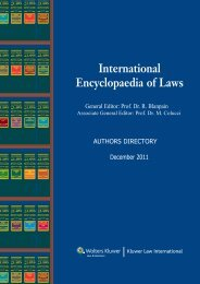 Preface - International Encyclopaedia of Laws