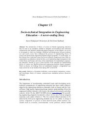 Chapter 13 Socio-technical Integration in Engineering Education