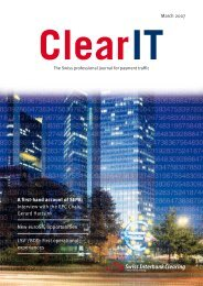 ClearIT 31, March 2007 - SIX Interbank Clearing