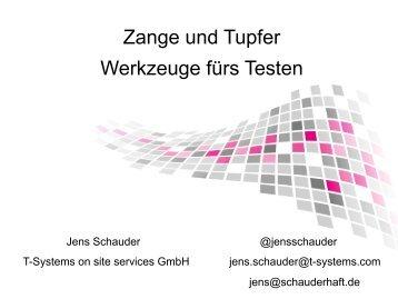 Zange und Tupfer Werkzeuge fürs Testen - XP day Germany