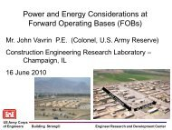 Power and Energy Considerations at Forward Operating Bases - E2S2