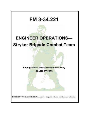 Engineer Operations— Stryker Brigade Combat Team Contents