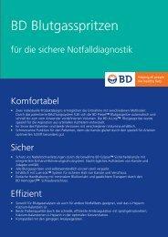 Flyer Blutgasanalyse - BD