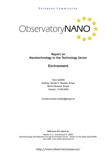Report on Nanotechnology in the Technology Sector Environment