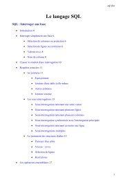 Le langage SQL - CMI