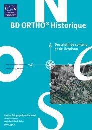 BD ORTHO® Historique - Descriptif de contenu et de livraison - IGN
