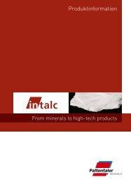 Produktfolder - Paltentaler Minerals