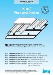Knauf Fireboard Decken K21 - bei Knauf