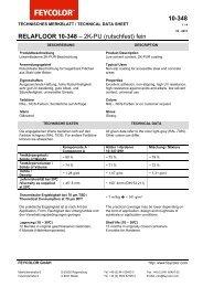 10-348 RELAFLOOR 10-348 – 2K-PU (rutschfest ... - Feycolor GmbH