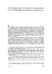 5. Documentos catalanoaragoneses en el inventario de Urbano
