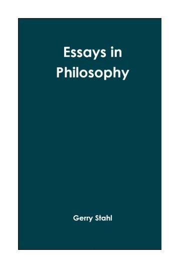 Essays in Philosophy - Gerry Stahl's website