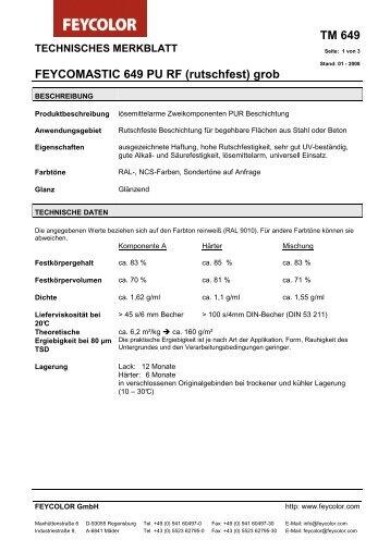 FEYCOMASTIC 649 PU RF (rutschfest) grob - MAUTNER - Alles Farbe