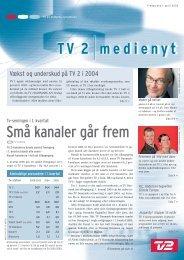 Små kanaler går frem - Tv2