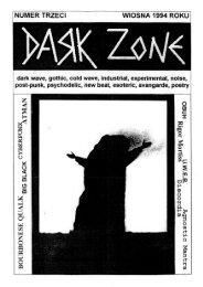 NUMER TRZECI WIOSNA 1994 ROKU - Dark Zone