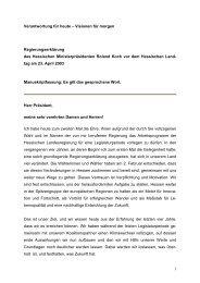 Regierungserklärung von Roland Koch 2003 - Ravensburg, Claudia ...