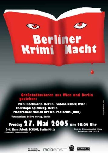 Berliner KrimiNacht - Mani Beckmann