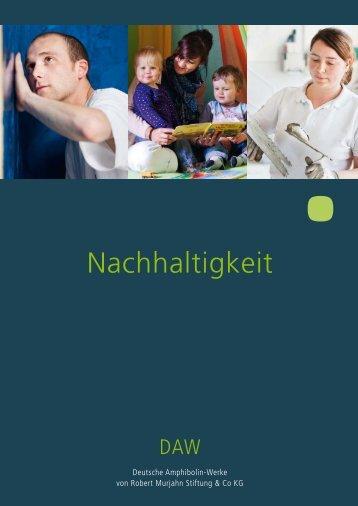 Nachhaltigkeit - Deutsche Amphibolin Werke
