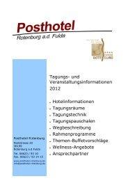 Tagungsmappe Posthotel Rotenburg 2011/2012 - Göbel Hotels