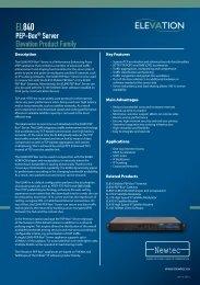 EL840 PEP-Box Server - Newtec