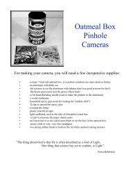 Oatmeal Box Pinhole Cameras