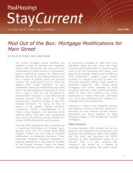 Mod Out of the Box: Mortgage Modifications for Main ... - Paul Hastings