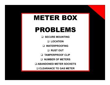 METER BOX PROBLEMS - Allsafe Home Inspection Service, Inc.