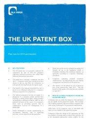 THE UK PATENT BOX - DLA Piper