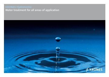 krones Hydronomic Water treatment for all areas of ... - Krones AG