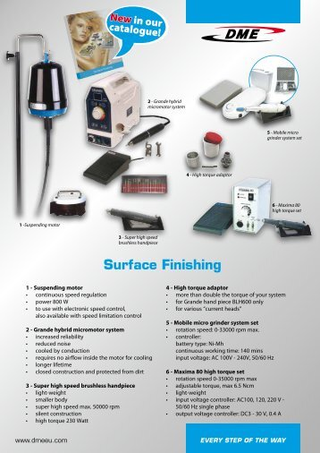 Surface Finishing - DME