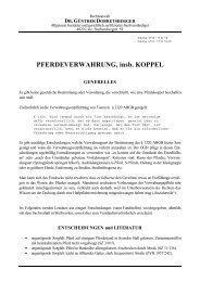 PFERDEVERWAHRUNG, insb. KOPPEL