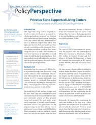 PolicyPerspective - Texas Public Policy Foundation