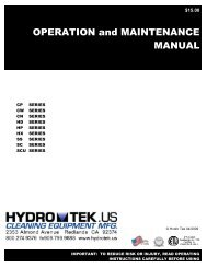 OPERATION and MAINTENANCE MANUAL - Hydro Tek Systems ...