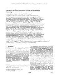 Ionospheric total electron content: Global and hemispheric climatology