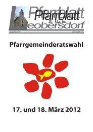 Pfarrblatt 02/2012 - Marktgemeinde Leobersdorf