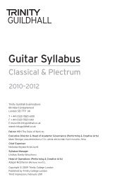 Guitar Syllabus - Trinity College London