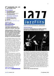 JAZZ IN DE PERS - JazzFlits