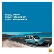 RENAULT KANGOO RENAULT KANGOO BE BOP RENAULT ...