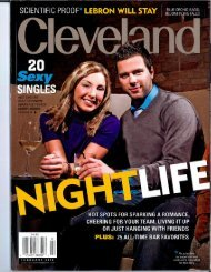 House of Swing featured in Cleveland Magazine - City of South Euclid