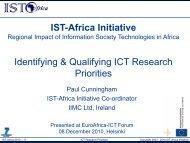 IST-Africa Initiative Identifying & Qualifying ICT ... - EuroAfrica-ICT
