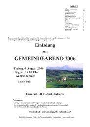 GEMEINDEABEND 2006 - Pichl bei Wels