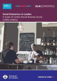 Social Enterprises in London - Greater London Authority