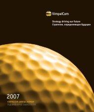 Download 2007 Annual Report in PDF (4.8Mb - VimpelCom