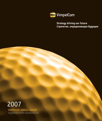 Download 2007 Annual Report in PDF (4.8Mb - VimpelCom