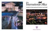 Guide for International Students and Staff - Rhodes University