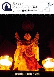 Gottesdienstplan Stuhr und Varrel Dezember 2012 - Februar 2013
