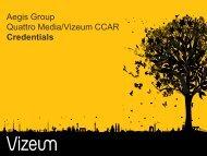 Aegis Group Quattro Media/Vizeum CCAR Credentials